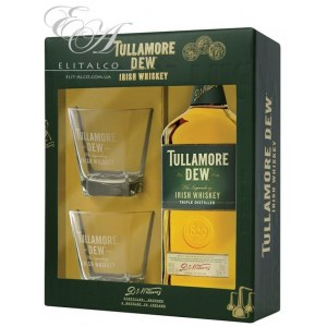 Виски Tullamore Dew Giftset (Тюлламор Дью со стаканами) 40% 0.7L